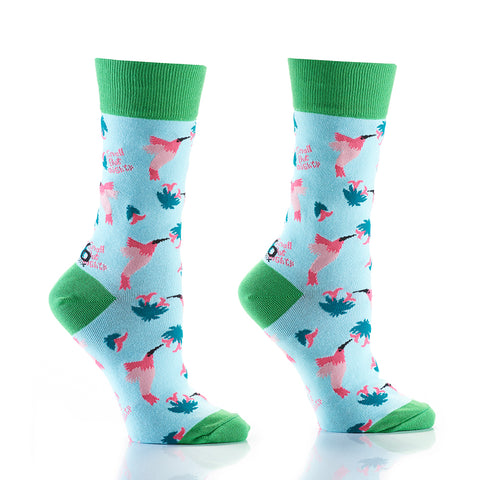 Humming Birds: Women's Crew Socks - Yo Sox Canada