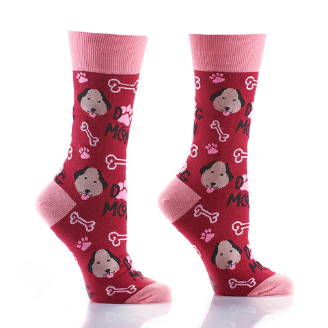 Dog Mom: Women's Crew Socks - Yo Sox Canada