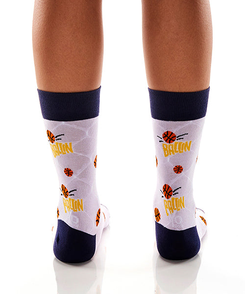 B-Ball Girls: Women's Crew Socks - Yo Sox Canada