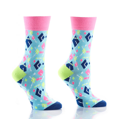 Deconstructed Argyle: Women's Crew Socks - Yo Sox Canada