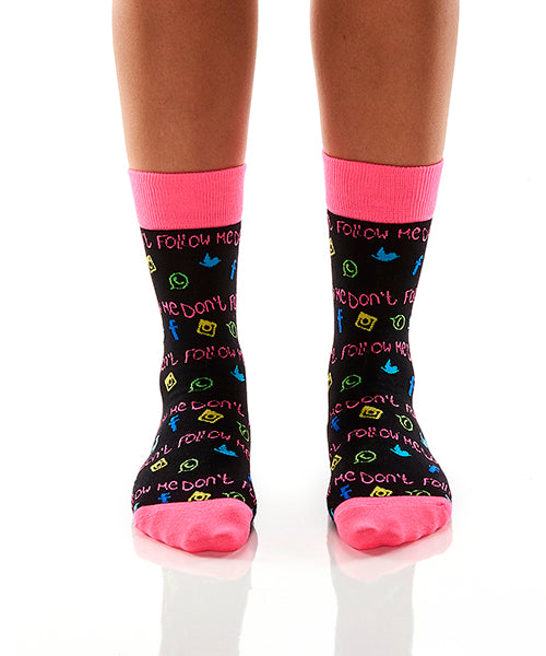 Anti-Social: Women's Crew Socks - Yo Sox Canada
