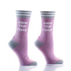 Know UR Power: Women's Crew Socks - Yo Sox Canada