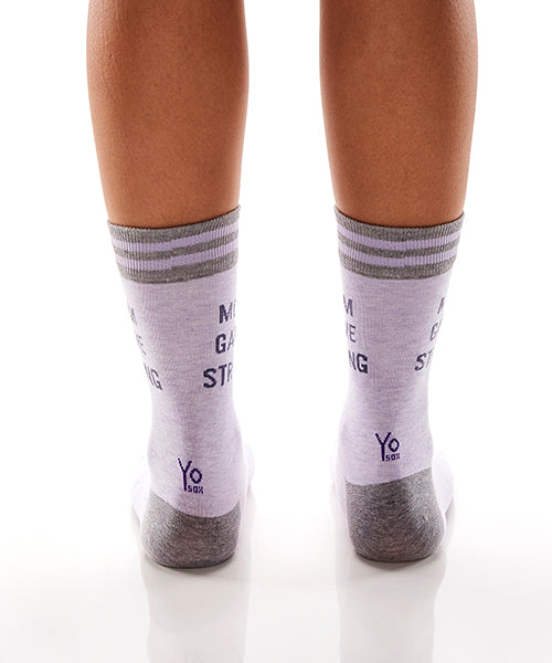 Mom Game Strong: Women's Crew Socks - Yo Sox Canada