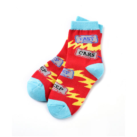 Lets Race: Kids Socks (Age 3-6) - Yo Sox Canada