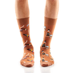 Cigar and Whisky Mens Crew Sox