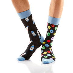 Milk and Cereal Mens Crew Sox