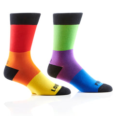 Loud and Proud Mens Crew Sox