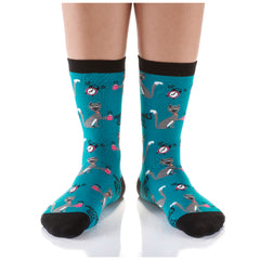 Before Coffee Womens Crew Sox