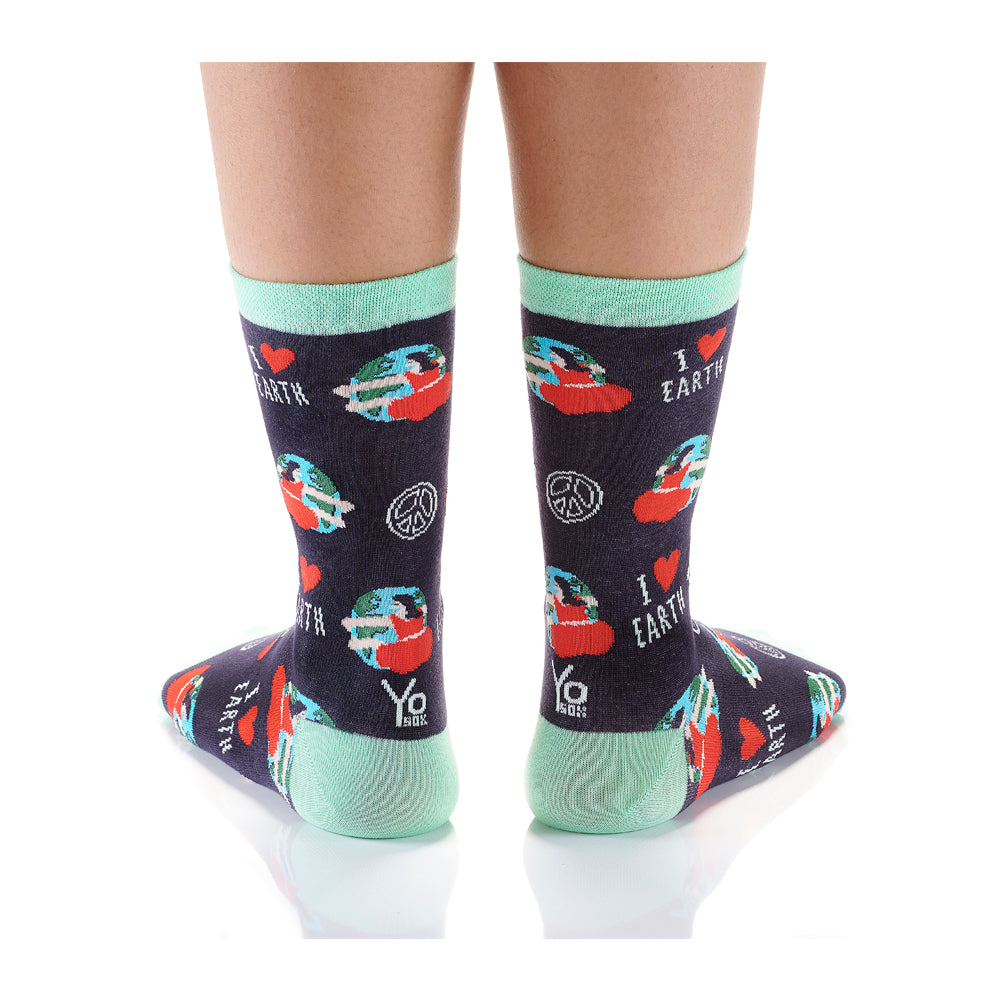 Earth Hugs Womens Crew Sox