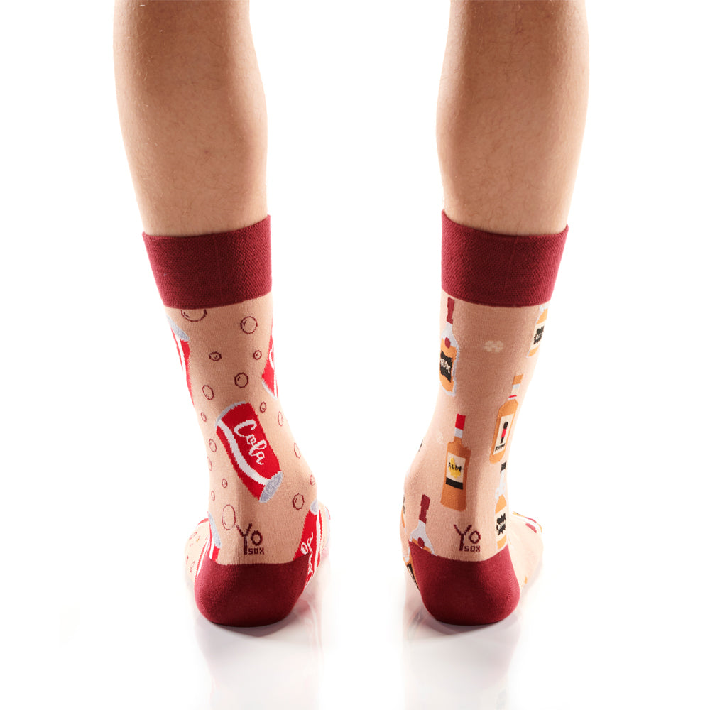 Rum and Cola Mens Crew Sox