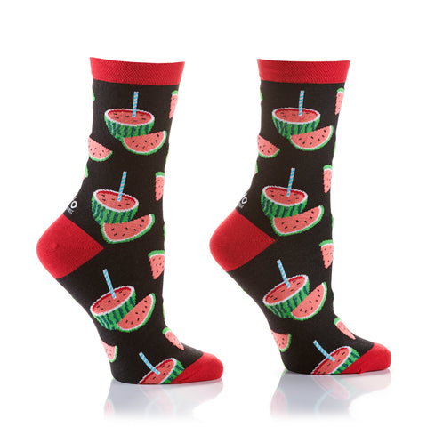 Juicy Watermelon Womens Crew Sox