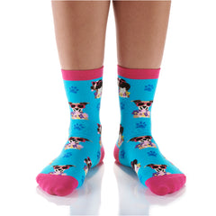Summer Dog Days Womens Crew Sox