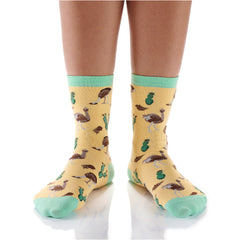 Ostrich Love Womens Crew Sox
