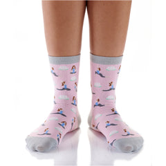 Yoga Girl Womens Crew Sox