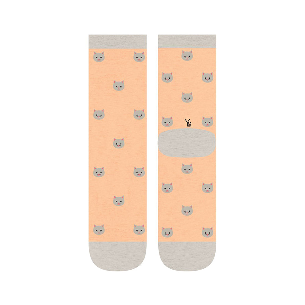 Here Kitty Womens Crew Sox