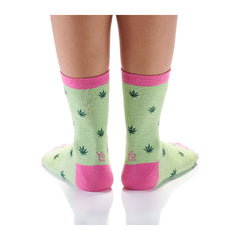 Lady In Green Womens Crew Sox