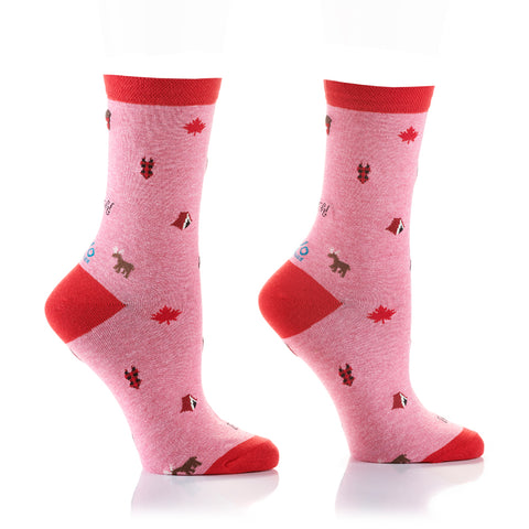 Canadian Girl Womens Crew Sox