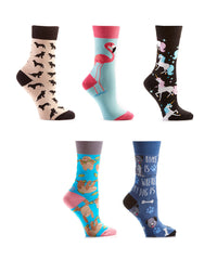 Furry Friends: Women's Crew Bundle - Yo Sox Canada