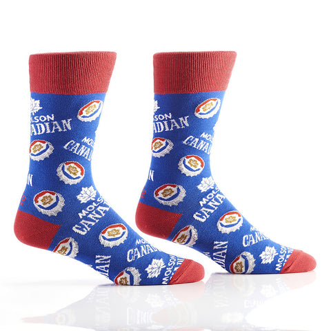 Crown Caps in Blue: Men's Crew Socks - Yo Sox Canada