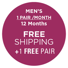 Subscription - Men's 1 Pair/Month - 12 Months