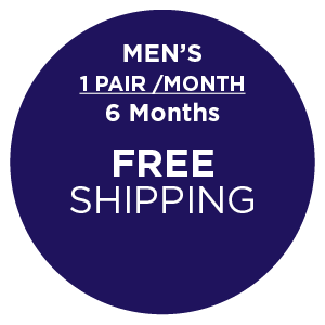 Subscription - Men's 1 Pair/Month - 6 Months