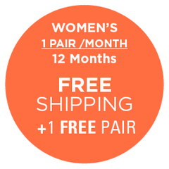 Subscription - Women's 1 Pair/Month - 12 Months