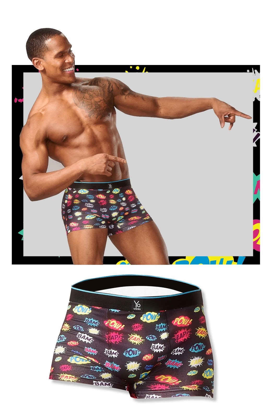 BAM POW: Men's Trunk Style Briefs