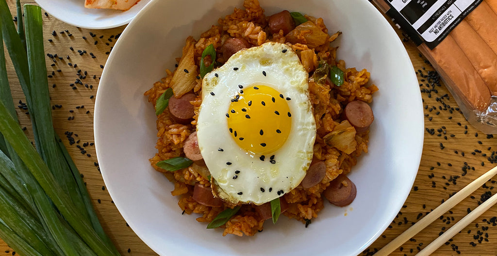 Hot Dog & Kimchi Fried Rice