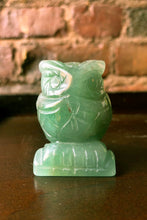 Load image into Gallery viewer, Green Aventurine Carved Owl