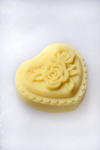 Jasmine & Rose Heart-Shaped Lotion Bar
