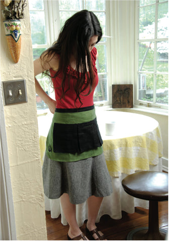 100% Hemp Half-Length Apron with Pockets