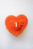 Heart-Shaped Beeswax Candle
