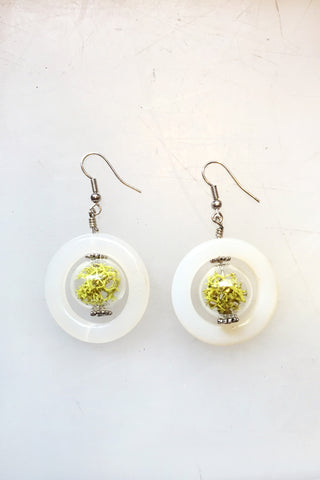 Glass Hoop Terrarium Earrings
