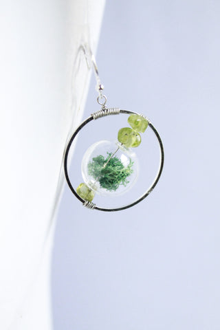 Pacific Terrarium Hoop Earrings