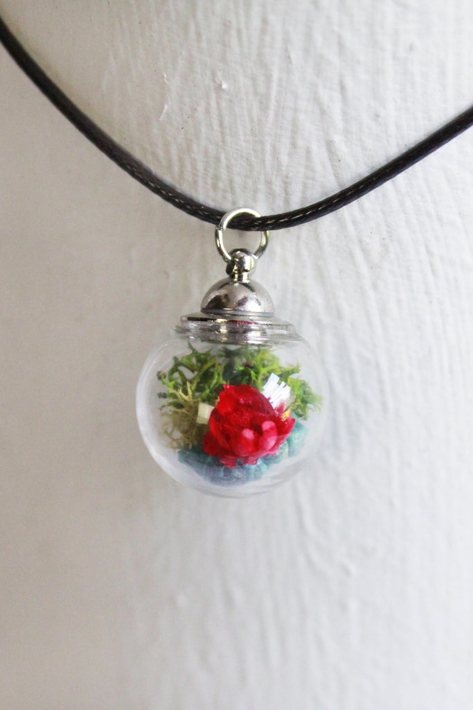 Yosemite Glass Bottle Terrarium Necklace Earth Speaks