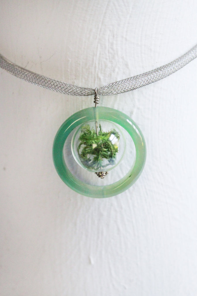 Biscayne Glass Ring Terrarium Necklace Earth Speaks