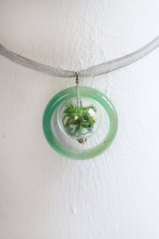 Biscayne Glass Ring Terrarium Necklace