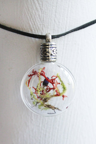 Joshua Tree Long Terrarium Pendant Necklace
