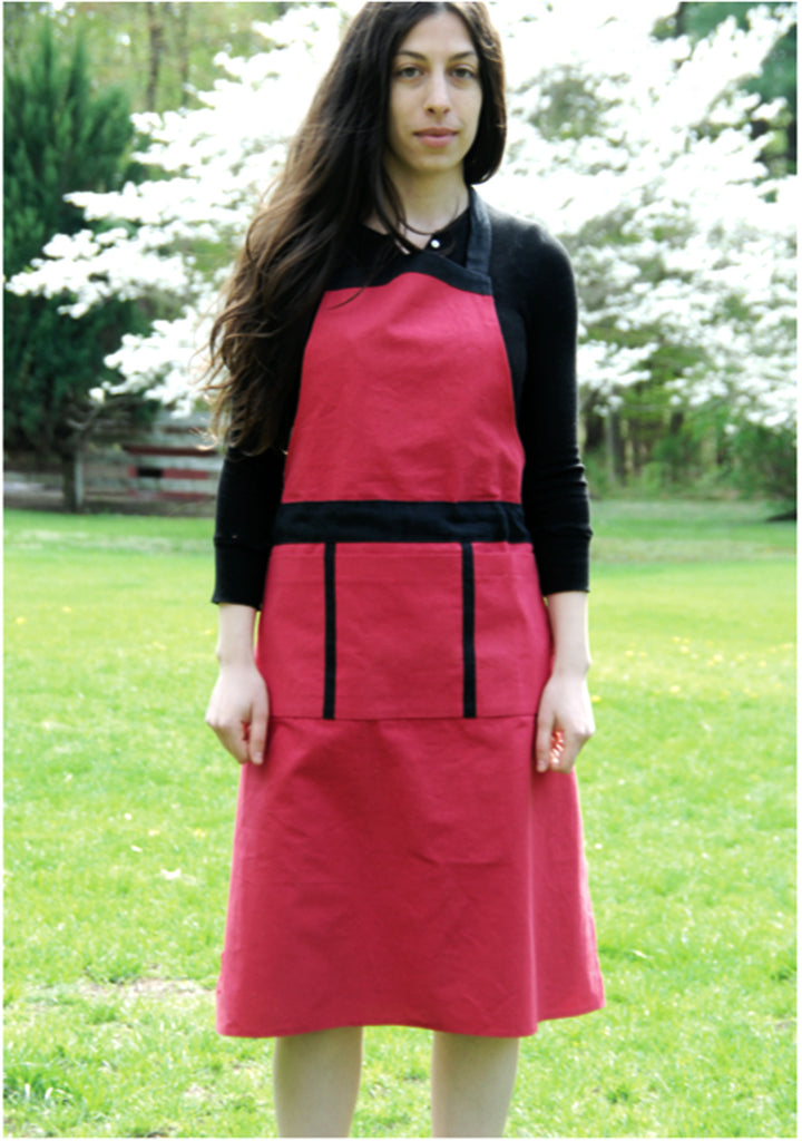 Hemp & Silk Long Apron with Pockets