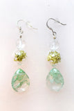Terrarium Earrings with Moss Agate Gemstone