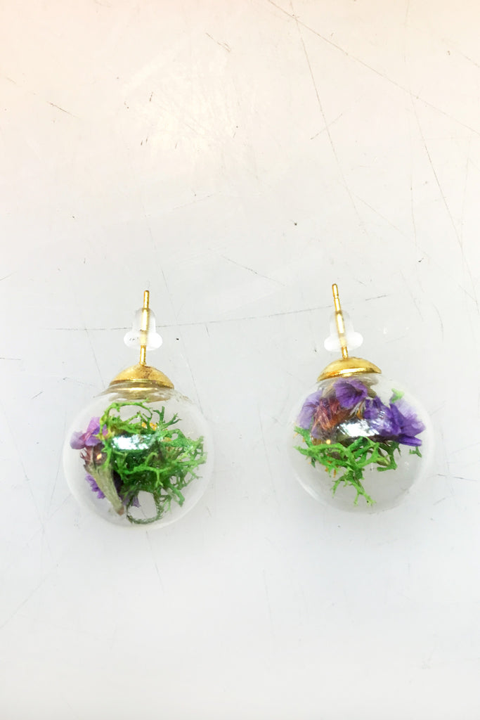 Moss & Dried Flower Studs