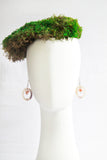 Papaya Terrarium Glass Hoop Earrings
