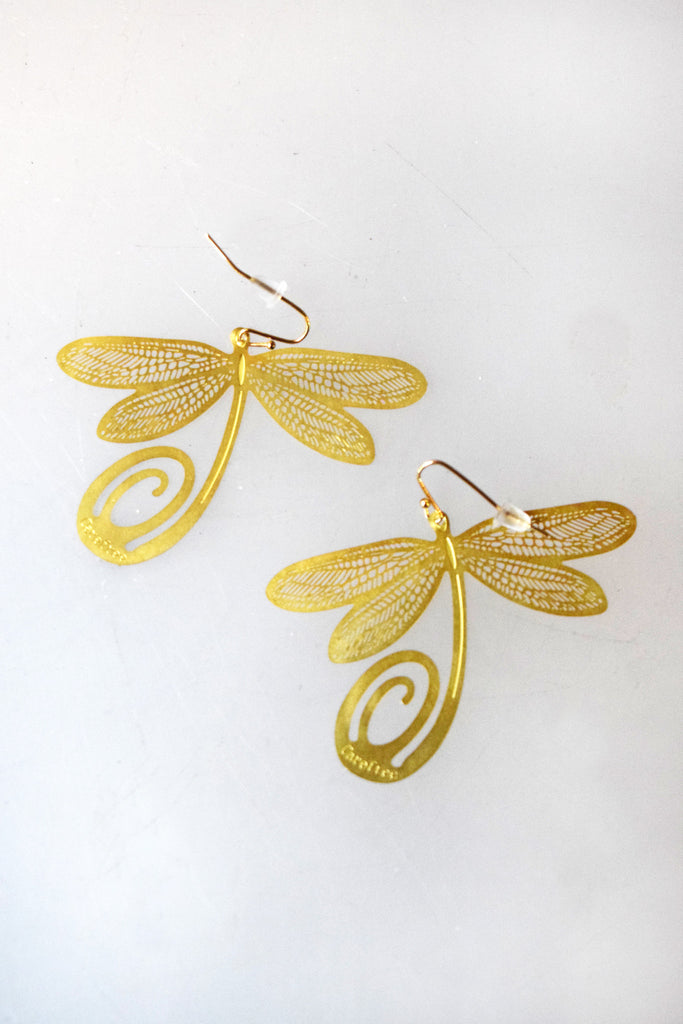 Dragonfly Bookmark Earrings