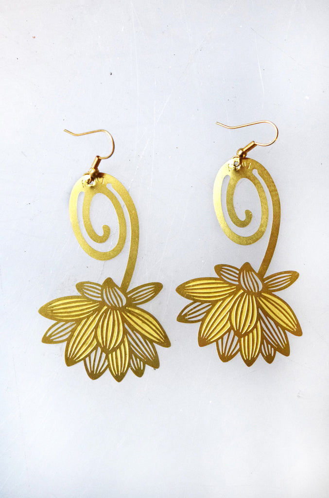 Flower Bookmark Earrings