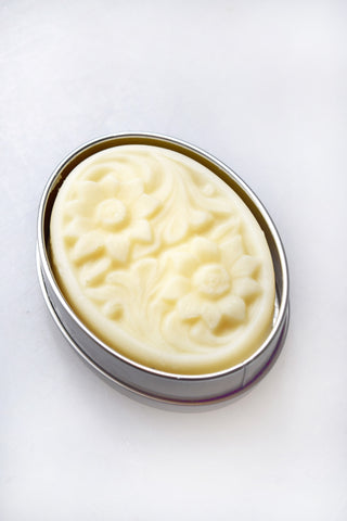 Neroli & Sandalwood Sunflower Lotion Bar with Tin