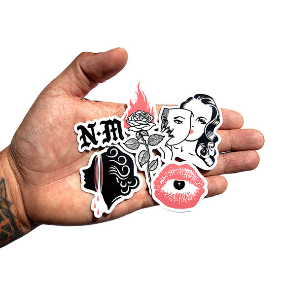 Sticker pack 4 pack never made la graphic artist