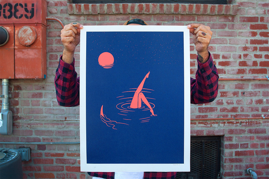 Midnight Swim | Silkscreen Print | Never Made Graphic Art