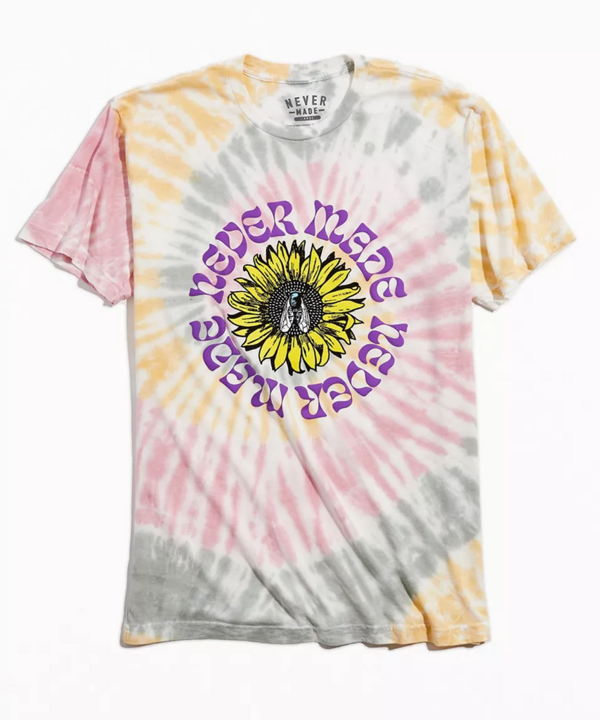 Fly Flower Tee Tye-dye
