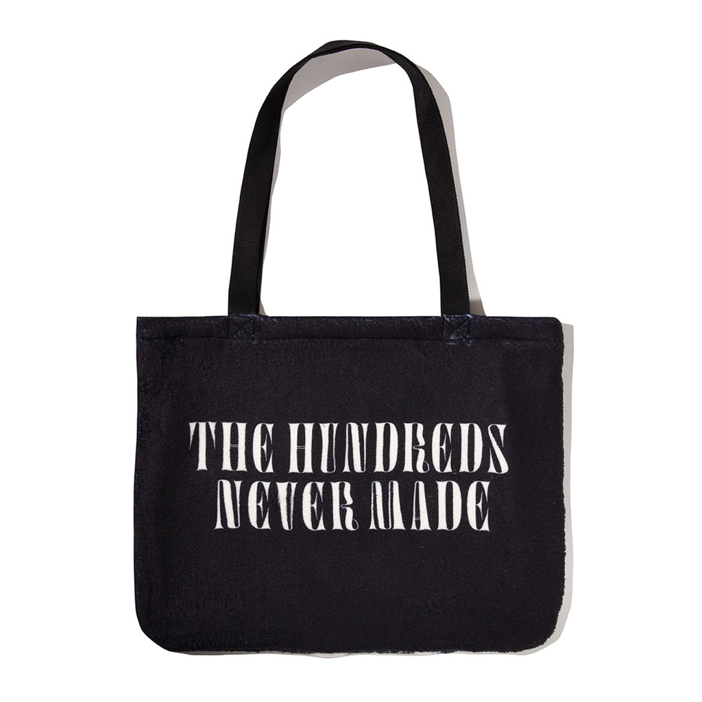 THE HUNDREDS X NEVER MADE TOTE BAG BLACK
