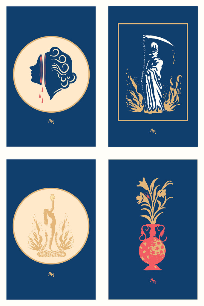 Indigo Post Card Set | Limited Edition Art Prints | Never Made